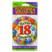 Balloon Foil 18in 18 Birthday Balloons Multi Pk1