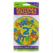 Balloon Foil 18in Balloons Birthday Age 2 Pk1