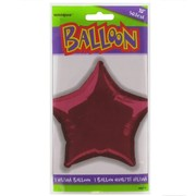 Balloon Foil 20in Burgundy Star Pk1