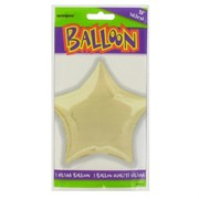 Balloon Foil 20in Ivory Star Pk1