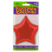 Balloon Foil 20in Red Star Pk1