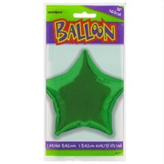 Balloon Foil 20in Green Star Pk1