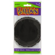 Balloon Foil 18in Black Circle Pk1