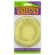Balloon Foil 18in Ivory Circle Pk1