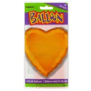 Balloon Foil 18in Orange Heart Pk1