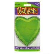 Balloon Foil 18in Lime Heart Pk1