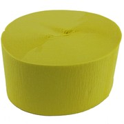 Yellow Jumbo Crepe Paper Streamers 50m (National Gold) Pk 1