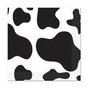Black and White Cow Print 2Ply Lunch Napkins Pk 16