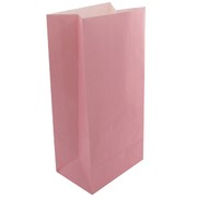 Pastel Pink Paper Lolly Bags Pk12