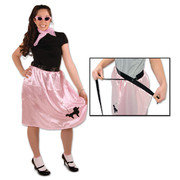 Pink Wrap-Around Adjustable Poodle Skirt Pk 1 (Skirt Only)