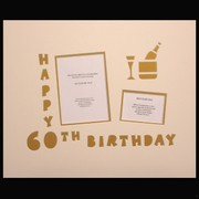 Signature Mat Happy Birthday  60 Gold Pk1