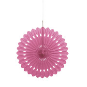 Hot Pink Paper Fan Decoration (40cm) Pk 12