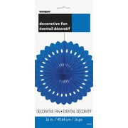 Royal Blue Paper Fan Decoration (40cm) Pk1