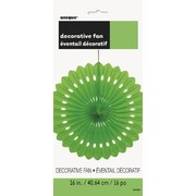 Lime Green Paper Fan Decoration (40cm) Pk1