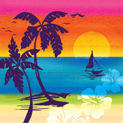 Luau 3Ply Cocktail Napkins - Aloha Summer Pk 16