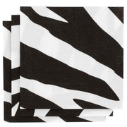 Zebra Print Party Napkins - Cocktail 3Ply Pk16