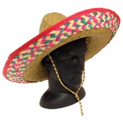 Mexican Sombrero with Checker Trim Pk 1