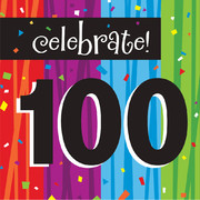 Milestone Celebrations 100 3Ply Lunch Napkins Pk 16