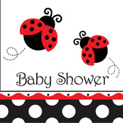 Baby Shower 3Ply Lunch Napkins - Ladybug Fancy Pk 16