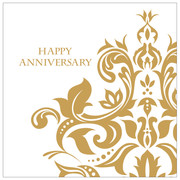 Gold Anniversary Lunch Napkins 3Ply Pk 36