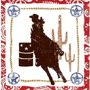 Rodeo Girl Western Lasso 3Ply Lunch Napkins Pk16
