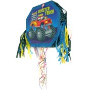 Monster Truck Pull-String Pinata - Pop-Out Pk 1