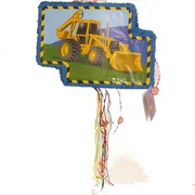 Construction Pull-String Pinata - Pop-Out Pk 1