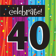 Milestone Celebrations 40 3Ply Lunch Napkins Pk 16