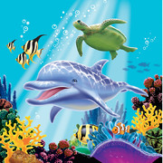 Ocean Party 3Ply Lunch Napkins Pk 16
