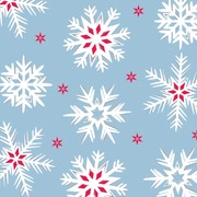 3Ply Lunch Napkins Christmas Nordic Snowflakes Pk16