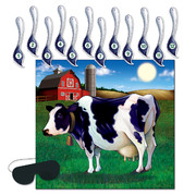 Pin the Tail on the Cow Party Game Pk 1