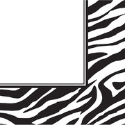 Zebra Print 3Ply Lunch Napkins Pk16