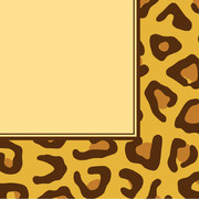Leopard Print 3Ply Lunch Napkins Pk 16