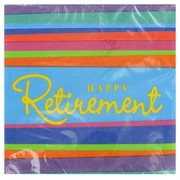 Retirement Party Napkins - Lunch 3Ply Pk16