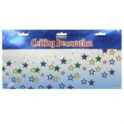 Ceiling Party Decoration - Multi Hanging Stars (3.66m) Pk1