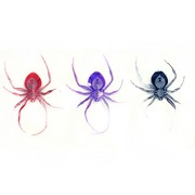 Foil Decoration Hanging Spiders 3D Glow In The Dark Pk3