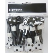 Black & White Polka Dot Blowouts Pk 10