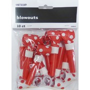 Red & White Polka Dot Blowouts Pk 10