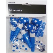 Royal Blue & White Polka Dot Blowouts Pk 10