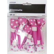 Hot Pink & White Polka Dot Blowouts Pk 10