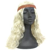 Party Wig - Hippie with Headband (Blonde) Pk1