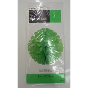 Lime Green Flutter Ball Decoration 20cm Pk 1