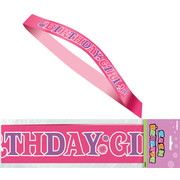 Birthday Girl Satin Sash Pk 1