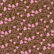 Chocolate Transfer Pink Tiny Hearts Pk1