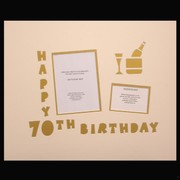 Signature Mat Happy Birthday 70 Gold Pk1