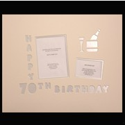Signature Mat Happy Birthday 70 Silver Pk1