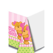 Bears 1st Birthday Girl Plastic Tablecover (137x274cm) Pk 1