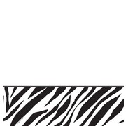 Plastic Party Tablecover - Zebra Print 137x274cm Pk1