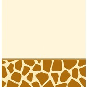 Plastic Party Tablecover - Giraffe Print 137x274cm Pk1
