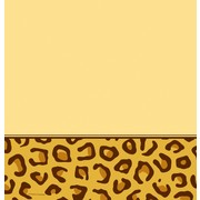 Plastic Party Tablecover - Leopard Print 137x274cm Pk1